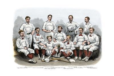 Boston Red Stocking Baseball Club of 1874--Photographic Print