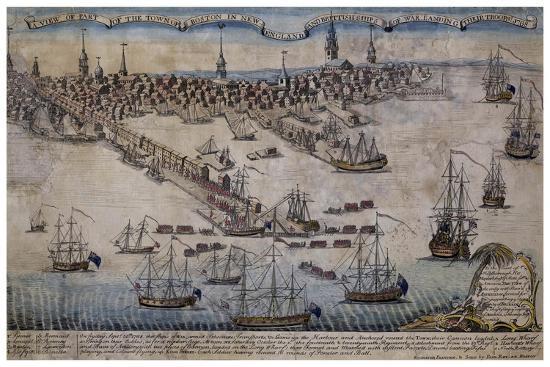 Boston Revere 1768-Vintage Lavoie-Giclee Print
