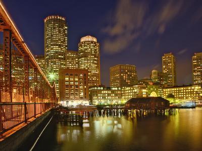 Boston Skyline at Dusk, Boston, Massachusetts-Adam Jones-Photographic Print