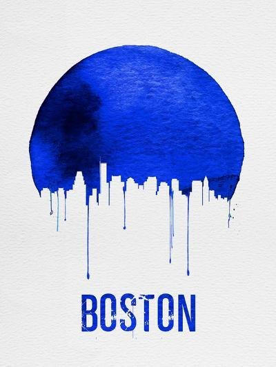 Boston Skyline Blue--Art Print