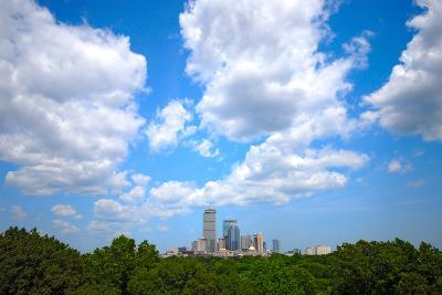 Boston Skyline Wide Angle-msymons-Photographic Print