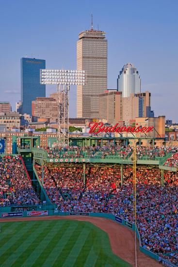 Boston Skyline with view of Historic Fenway Park, Boston Red Sox, Boston, Ma., USA, May 20, 2010...--Photographic Print