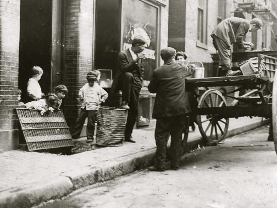 Boston Street Kids-Lewis Wickes Hine-Photo