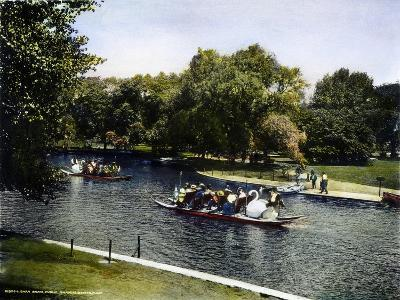 Boston: Swan Boats, c1900--Giclee Print
