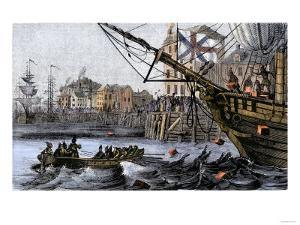 Boston Tea Party, a Protest against British Taxes Before the American Revolution, c.1773