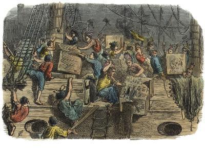 Boston Tea Party, C.1860S--Giclee Print