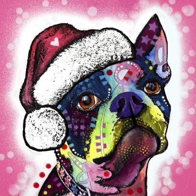 Boston Terrier Christmas-Dean Russo-Giclee Print