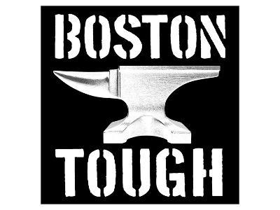 Boston Tough Black-SM Design-Art Print