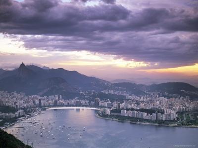 Botafogo Bay at Sunset, Rio De Janeiro, Brazil, South America-Sergio Pitamitz-Photographic Print