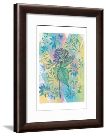 Botanical Boho Hydrangea-Beverly Dyer-Framed Art Print