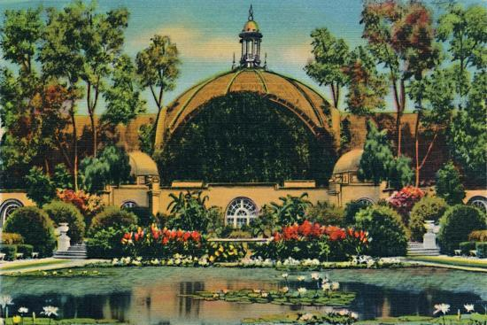 'Botanical Building and Lagoon. San Diego, California', c1941-Unknown-Giclee Print