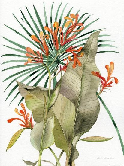 Botanical Flame Lilies-Kathleen Parr McKenna-Art Print