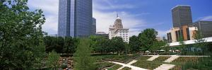 Botanical Garden with Skyscrapers in the Background, Myriad Botanical Gardens, Oklahoma City