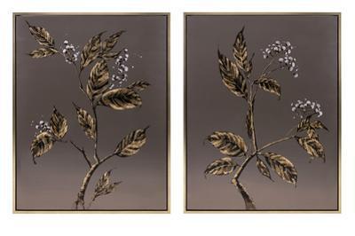 Botanicals in Bronze Diptych