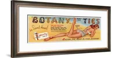 Botany Ties, Mens Ties Glamour Clothes, USA, 1949--Framed Giclee Print