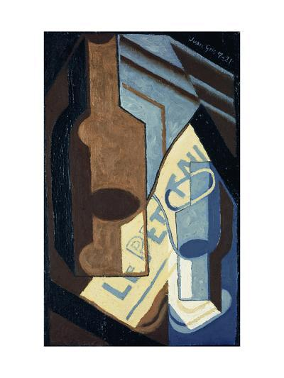 Bottle and Glass-Juan Gris-Giclee Print