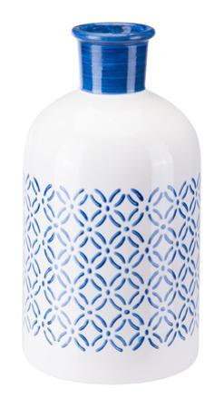 Bottle Sm Steel Blue And White