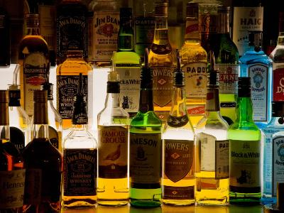 Bottles of Liquor, De Luan's Bar, Ballydowane, County Waterford, Ireland--Photographic Print