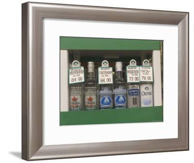 Bottles of Vodka Sold from a Street Kiosk-Richard Nowitz-Framed Photographic Print