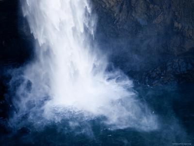 Bottom of a Waterfall-Tim Laman-Photographic Print
