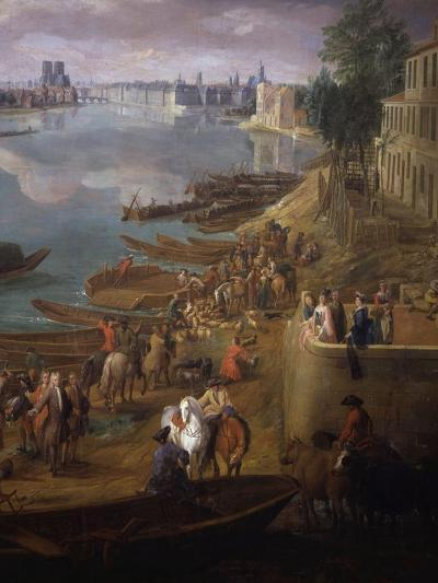 Bottom Tip of the Ile St Louis, Paris from the Quai De La Rapée, also Called the Quai De Bercy-Pierre-Denis Martin-Giclee Print