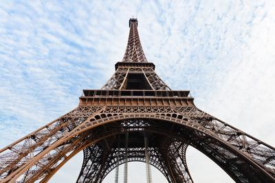 photograph about Printable Pictures of the Eiffel Tower titled Backside Feeling of Eiffel Tower inside of Paris Photographic Print through vvoevale