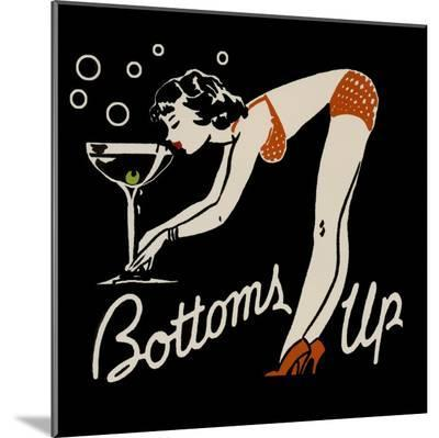 Bottoms Up--Mounted Print
