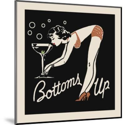 Bottoms Up-Retro Series-Mounted Art Print