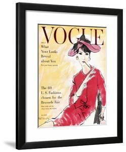 Vogue Cover - April 1958 by Bouch?en?\.