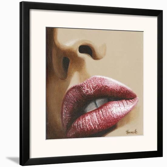 Bouche Rose Et Nez-Joëlle Vermeille-Framed Art Print
