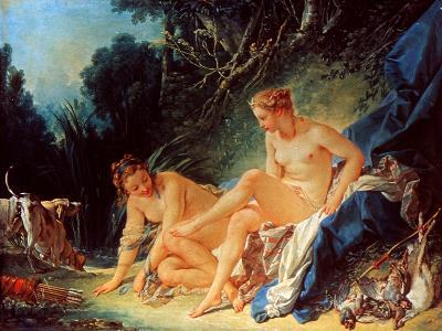 Boucher: Diana Bathing-Francois Boucher-Giclee Print