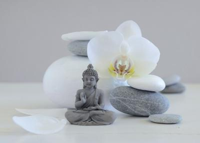 Bouddha Grey-Chatelain-Art Print