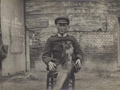 Bouddha, the Pet Cat of a Squadron of Lancers on the Belgian Front--Photographic Print