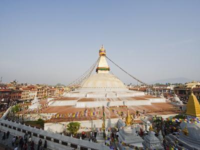 Boudha Stupa (Chorten Chempo), Boudhanath, Kathmandu, Nepal, Asia-Christian Kober-Photographic Print