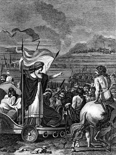 Boudicca (Boadice) Lst Century British Queen of Iceni, 1824--Giclee Print