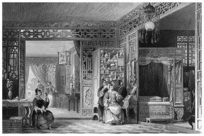 Boudoir and Bed Chamber of a Lady of Rank, China, 19th Century-W Floyd-Giclee Print