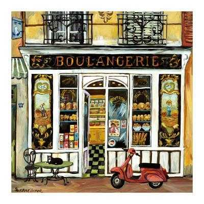 Boulangerie and Red Scooter-Suzanne Etienne-Art Print