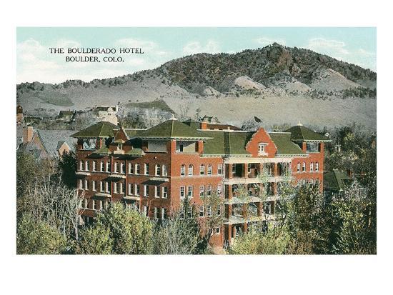 Boulderado Hotel, Boulder, Colorado--Art Print