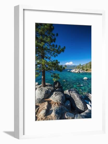 Boulders and cove at Sand Harbor State Park, Lake Tahoe, Nevada USA-Russ Bishop-Framed Photographic Print