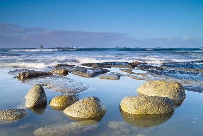 Boulders in the Water with Snow and Ice; Cape Foulwind South Island New Zealand-Design Pics Inc-Photographic Print