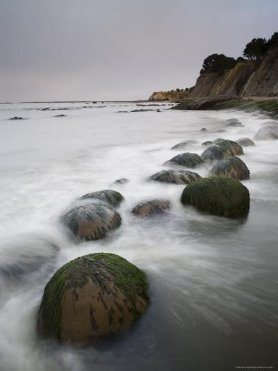 Boulders, Known as Bowling Balls, in the Surf, California, USA-James Hager-Photographic Print