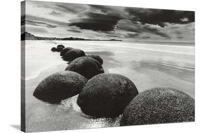 Boulders on the Beach--Stretched Canvas Print