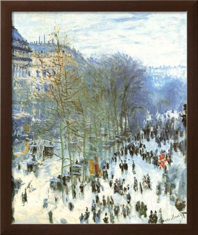 Boulevard des Capucines-Claude Monet-Framed Textured Art
