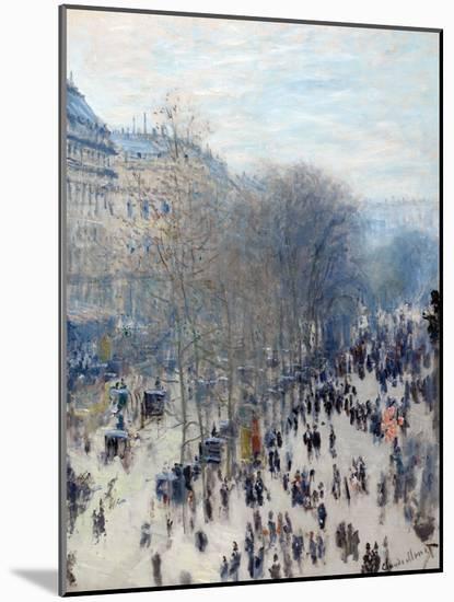 Boulevard Des Capucines-Claude Monet-Mounted Giclee Print