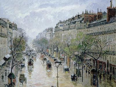 Boulevard Montmartre, 1897-Camille Pissarro-Giclee Print