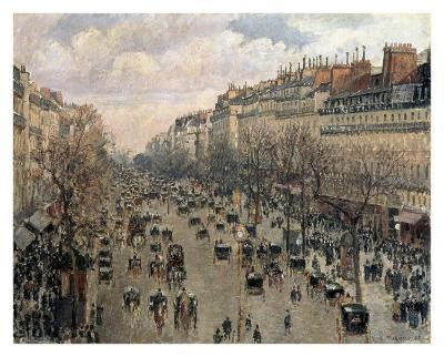 Boulevard Montmartre, Afternoon Sun, 1897-Camille Pissarro-Art Print