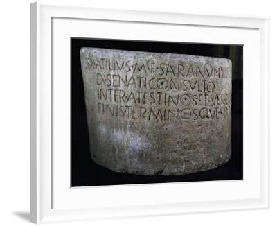 Boundary Stone Between Atestini and Vicentini--Framed Giclee Print