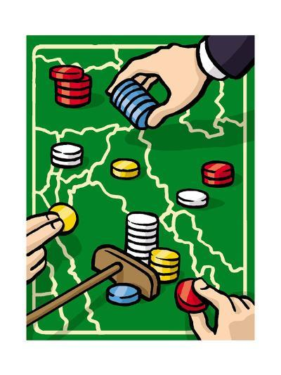 Boundries are played with poker chips - Cartoon-Christoph Niemann-Premium Giclee Print