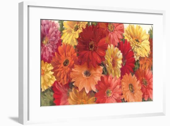 Bountiful Gerberas-Carol Rowan-Framed Premium Giclee Print