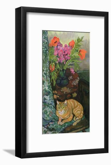 Bouquet and a Cat, 1919-Suzanne Valadon-Framed Giclee Print